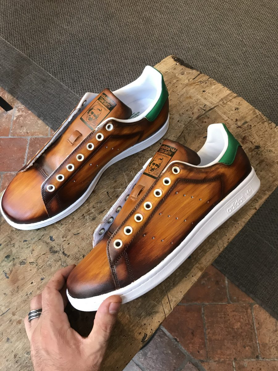 Adidas Leather Patina Cognac