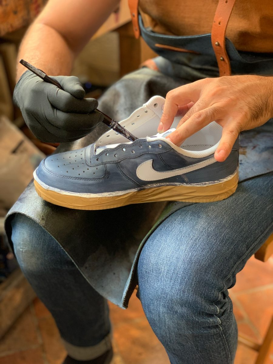 Air force 1 blue jeans patine 2